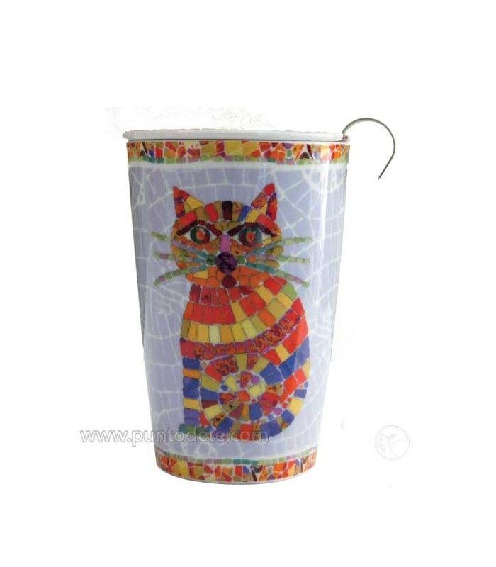 "Mug con filtro de acero Inoxidable para té ""Ted"""
