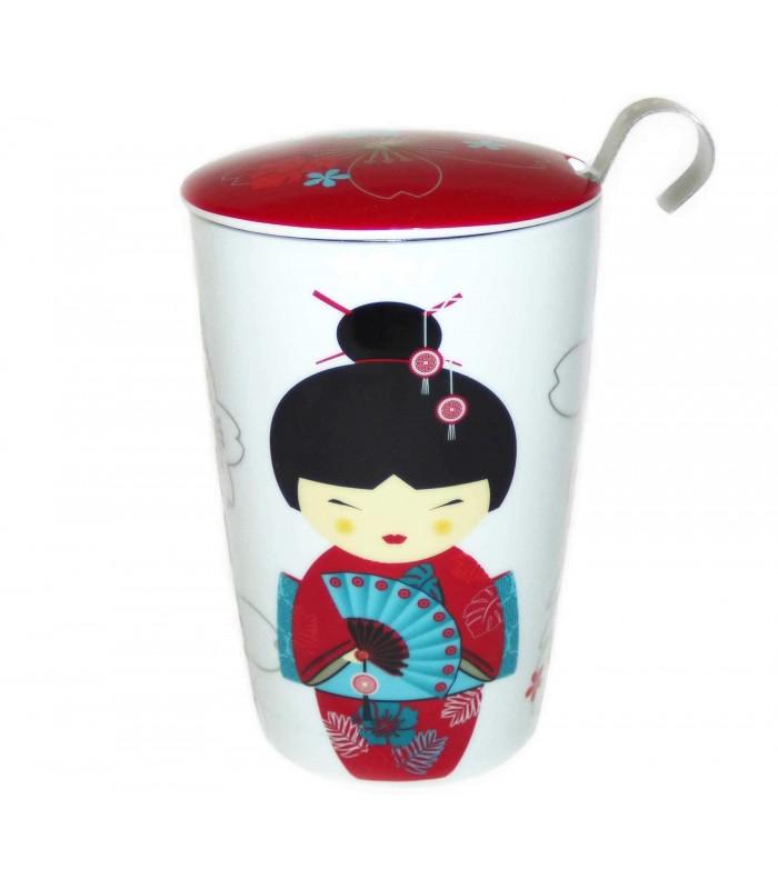 Mug de Porcelana con Filtro Little Geisha
