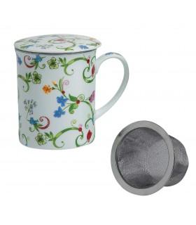 Taza para té con filtro Fleurette