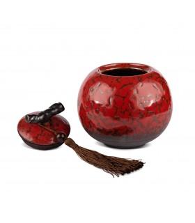 Bote para té de porcelana