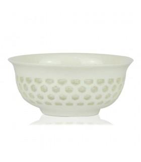 Cuencos Gonfu porcelana y cristal x4