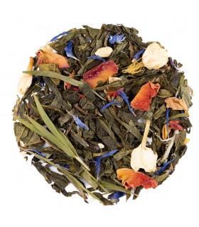 té verde con rosas y jazmín