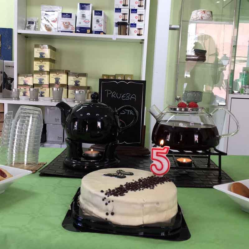 Aniversario tienda de té