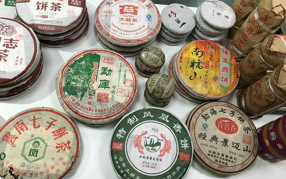 Diferentes discos de té prensado